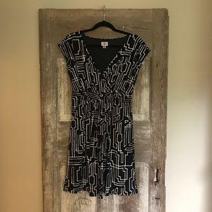 Worthington size small dress black and white